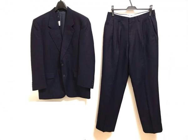 Johnstons(ジョンストンズ) シングルスーツ メンズ美品  ネイビー ネーム刺繍
