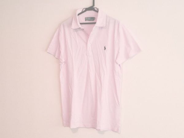 POLObyRalphLauren(ポロラルフローレン) 半袖ポロシャツ サイズM メンズ ピンク