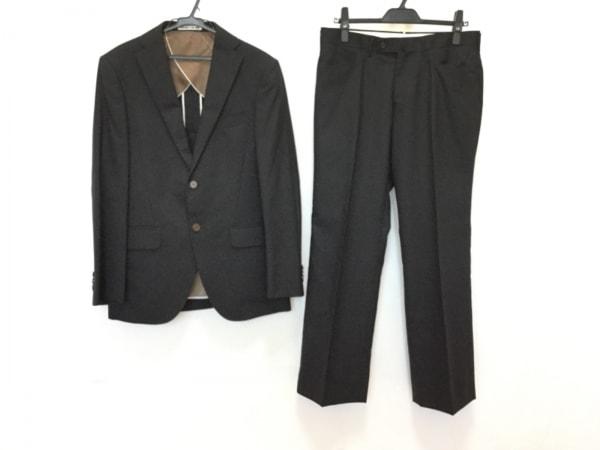 PERSON'S(パーソンズ) シングルスーツ サイズA5 メンズ 黒×グレー ストライプ