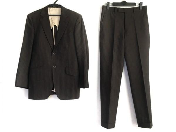 ハイストリート シングルスーツ サイズS メンズ美品  ダークグレー×グレー
