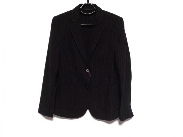 イネスドゥラフレサンジュ ジャケット サイズL レディース新品同様  黒×グレー