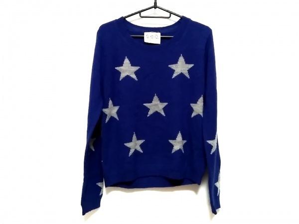 sea(シー) 長袖セーター サイズS レディース ブルー×グレー スター