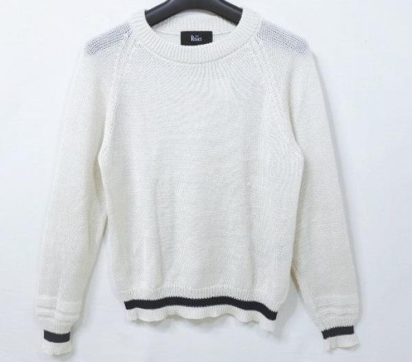 THE RERACS(リラクス) 長袖セーター サイズ36 S レディース アイボリー×黒 シルク混