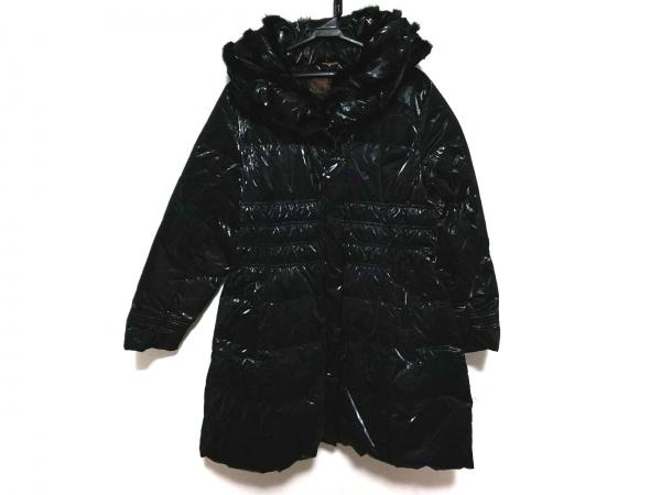 BALMAIN(バルマン) ダウンコート サイズL レディース 黒 冬物