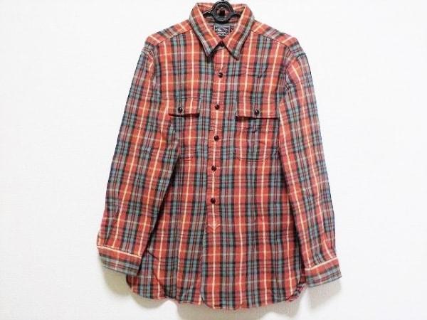 ラルフローレン 長袖シャツ サイズL メンズ レッド×グリーン×マルチ チェック柄