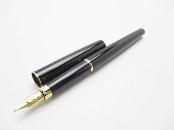 セーラー 万年筆美品  黒×ゴールド インクなし/ペン先24K プラスチック×金属素材