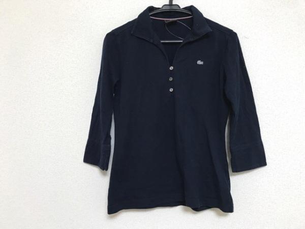 Lacoste(ラコステ) 長袖ポロシャツ サイズ42 L レディース ダークネイビー