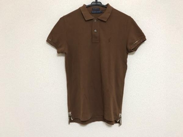 RalphLauren(ラルフローレン) 半袖ポロシャツ サイズL レディース ブラウン ビーズ