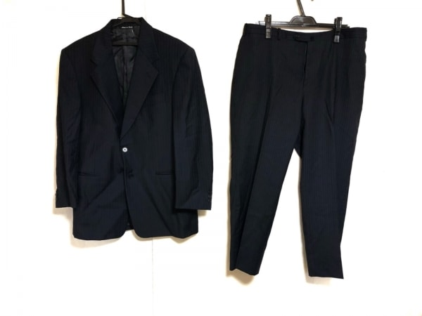 PAL ZILERI(パルジレリ) シングルスーツ メンズ ダークネイビー ストライプ