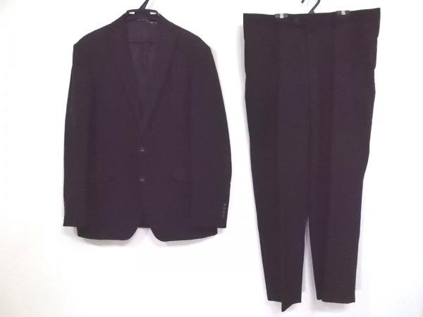 PERSON'S(パーソンズ) シングルスーツ メンズ 黒 ストライプ/ネーム刺繍