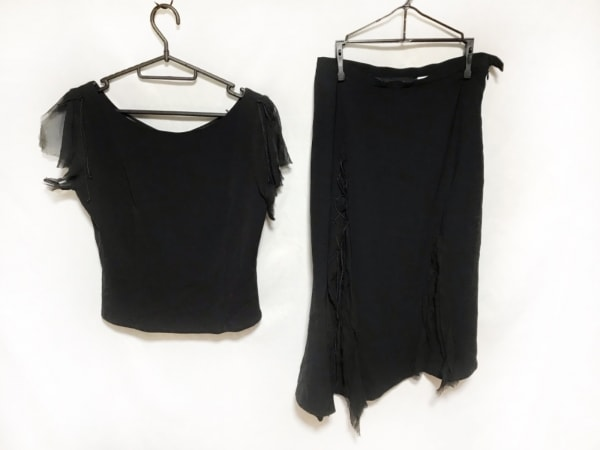 RITSUKO SHIRAHAMA(リツコシラハマ) スカートセットアップ レディース新品同様  黒