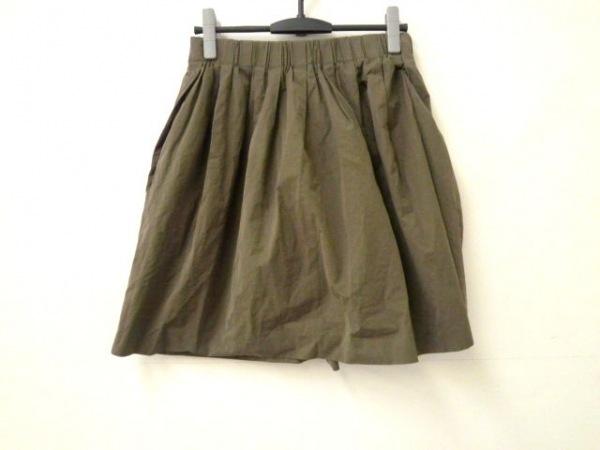 ドレステリア スカート レディース美品  ダークグリーン ギャザー/ウエストゴム