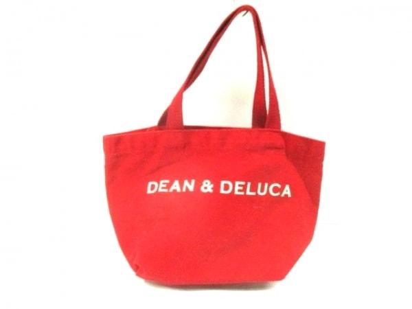 DEAN&DELUCA(ディーンアンドデルーカ) トートバッグ レッド ミニサイズ キャンバス