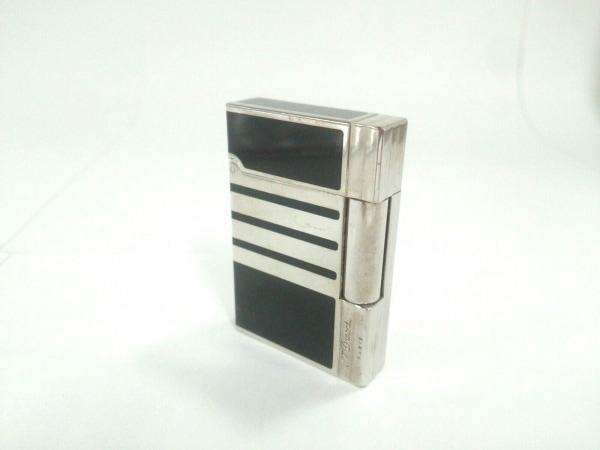 Dupont(デュポン) ライター シルバー×黒 金属素材