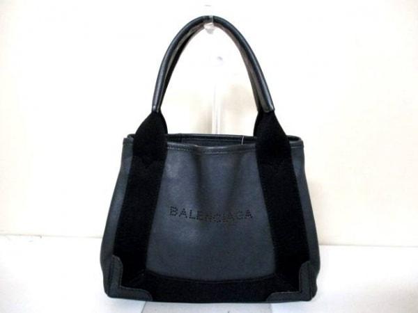 BALENCIAGA(バレンシアガ) トートバッグ ネイビーカバXS 390346 黒 レザー
