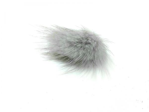 ジャムホームメイド リング美品  ファー×金属素材 ライトグレー×シルバー ミンク