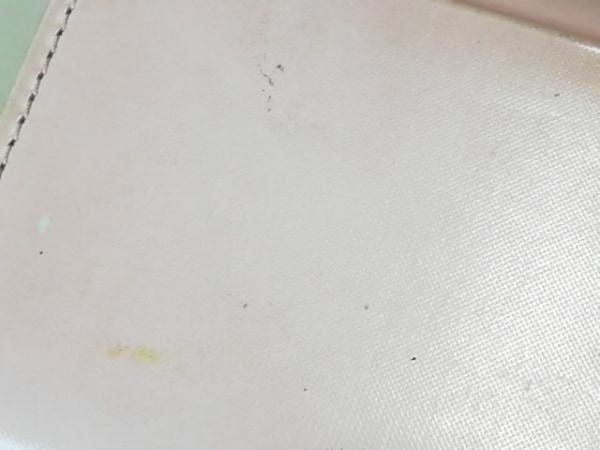 agnes b(アニエスベー) 名刺入れ ピンク×白 レザー 5