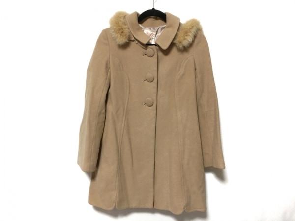 ウィルセレクション コート サイズ0 XS レディース美品  ライトブラウン