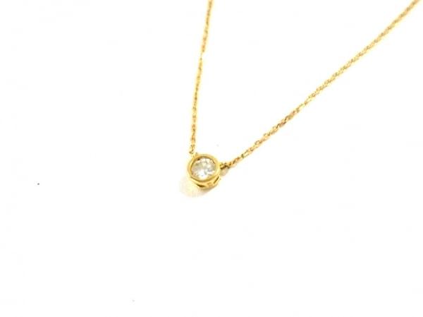 TAKE-UP(テイクアップ) ネックレス美品  K18YG×ダイヤモンド 1Pダイヤ/0.03カラット