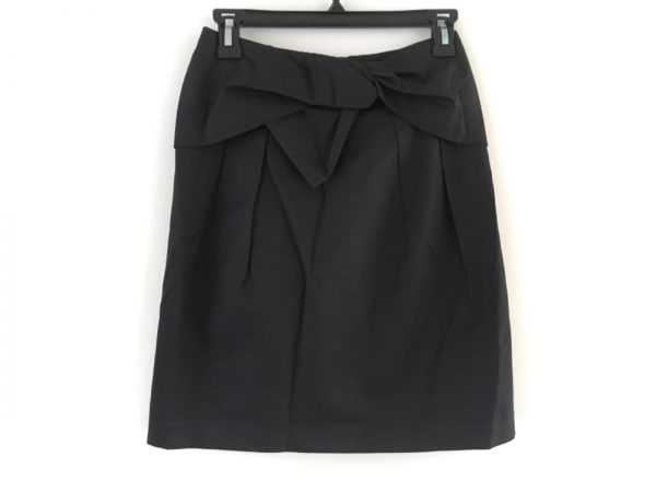 ESTNATION(エストネーション) スカート サイズ36 S レディース美品  黒 リボン/biz