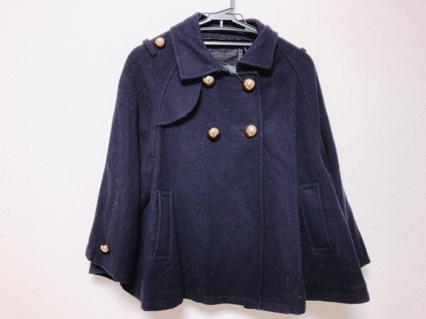 JEANASIS(ジーナシス) コート レディース 黒 ショート丈/冬物