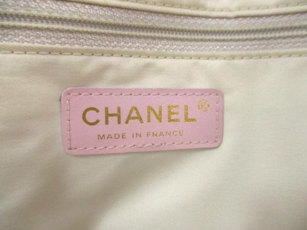 CHANEL(シャネル) トートバッグ ニュートラベルライントートMM ピンク×白