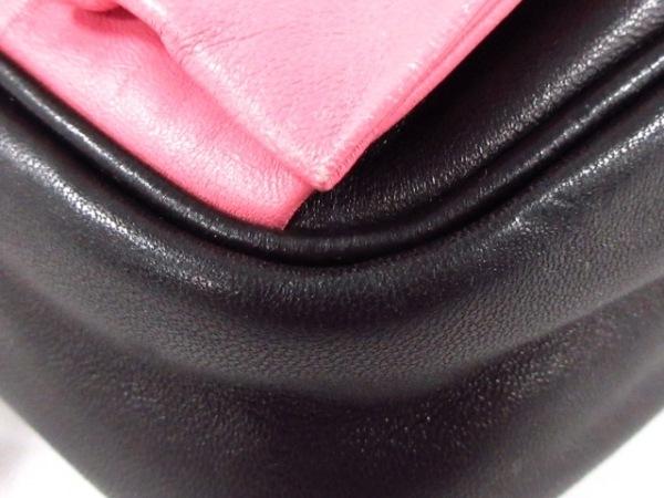 PRADA(プラダ) ショルダーバッグ - BP0166 黒×ピンク リボン ナッパレザー
