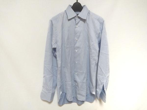 ORIAN(オリアン) 長袖シャツ サイズ39 メンズ美品  ライトブルー×アイボリー BEAMSF
