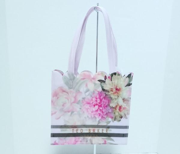 TED BAKER(テッドベイカー) トートバッグ美品  ピンク×マルチ 花柄 ビニール