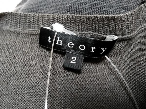 theory(セオリー) カーディガン サイズ2 S レディース ダークグレー