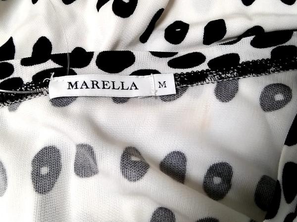MARELLA(マレーラ) ワンピース サイズM レディース 白×黒