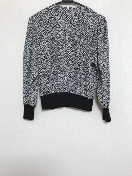 Leilian(レリアン) 長袖カットソー サイズ9 M レディース 白×黒×グレー 豹柄