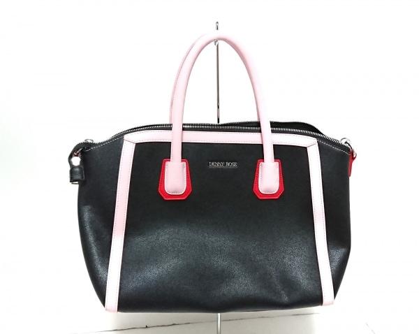 DENNY ROSE(デニーローズ) ハンドバッグ美品  黒×ピンク×レッド 合皮