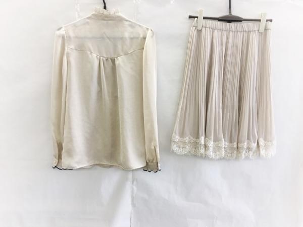 プチプードル スカートセットアップ サイズ9 M レディース美品  ベージュ