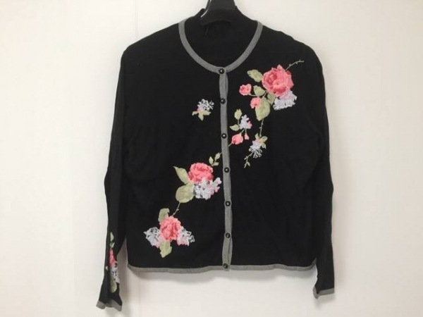 エルミダ アンサンブル サイズ13 L レディース 黒×ピンク×グリーン 刺繍/ビーズ