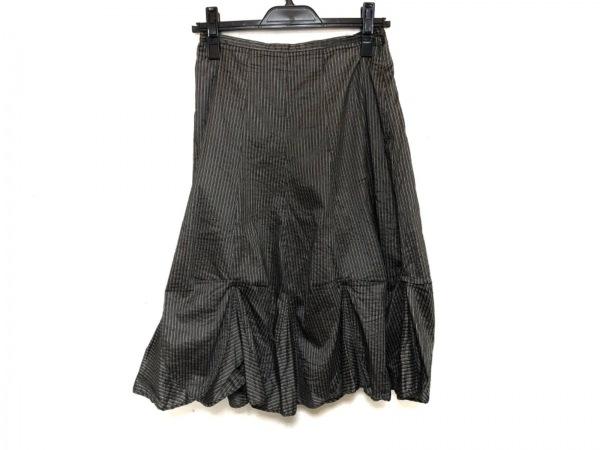 イオコムイオ センソユニコ ロングスカート サイズ38 M レディース美品  黒×ベージュ