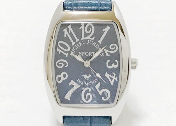 ミッシェルジョルダン 腕時計美品  SL-1000 レディース 革ベルト/ダイヤモンド/SPORT