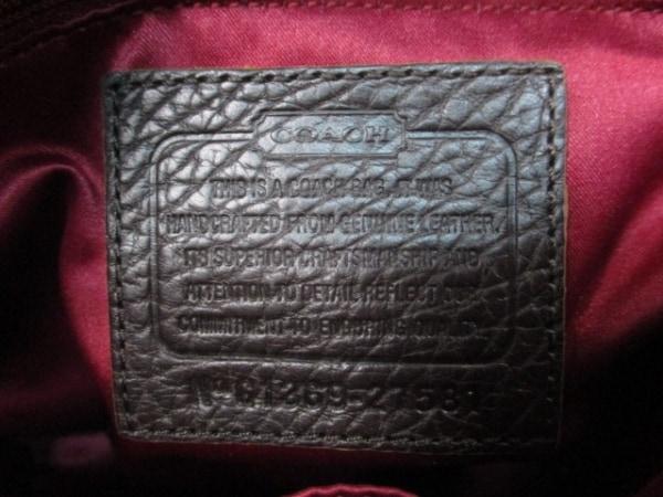 COACH(コーチ) ハンドバッグ - 27581 黒×ベージュ×ダークブラウン レザー×ハラコ