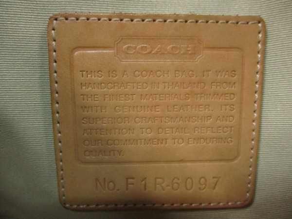 COACH(コーチ) ハンドバッグ シグネチャーサッチェル 6097 ジャガード×レザー