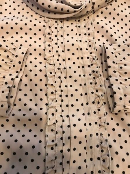 アプワイザーリッシェ 七分袖カットソー サイズ1 S レディース美品  ベージュ×黒