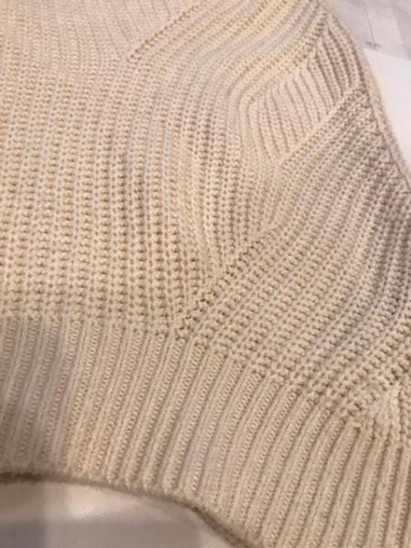 リランドチュール 半袖セーター サイズ2 M レディース アイボリー×黒 シースルー(肩)