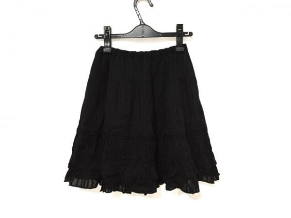 エミリーテンプルキュート ミニスカート レディース美品  黒 ストライプ