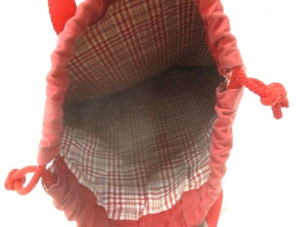 PINK HOUSE(ピンクハウス) トートバッグ レッド×白×オレンジ コットン