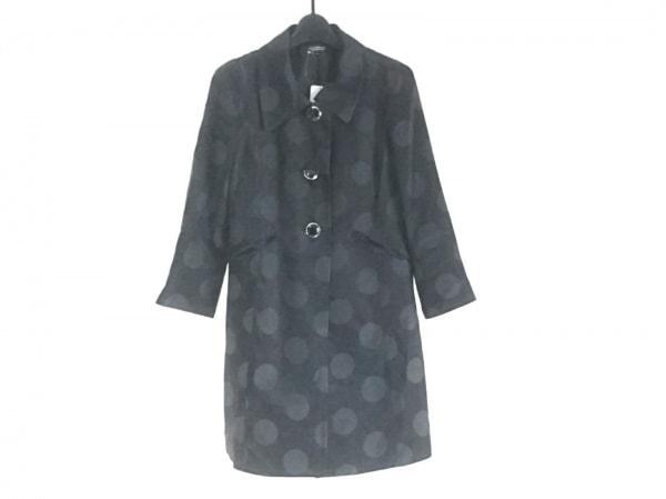 リトルニューヨーク コート サイズ4 M レディース美品  黒×ダークグレー