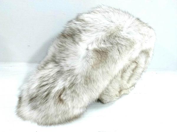 SAGA FOX(サガフォックス) マフラー美品  アイボリー×ライトブラウン フォックス