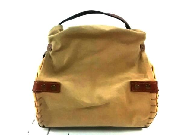 ebagos(エバゴス) ハンドバッグ美品  ベージュ×ダークブラウン かごバッグ
