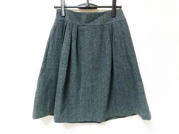 マーガレットハウエル スカート サイズ2 M レディース美品  グレー×黒 ヘリンボーン