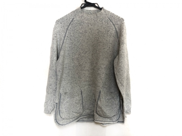 LANCEL(ランセル) 長袖セーター レディース美品  ライトグレー×ネイビー