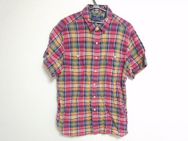 ポロスポーツラルフローレン 半袖シャツ サイズLL メンズ レッド×マルチ チェック柄