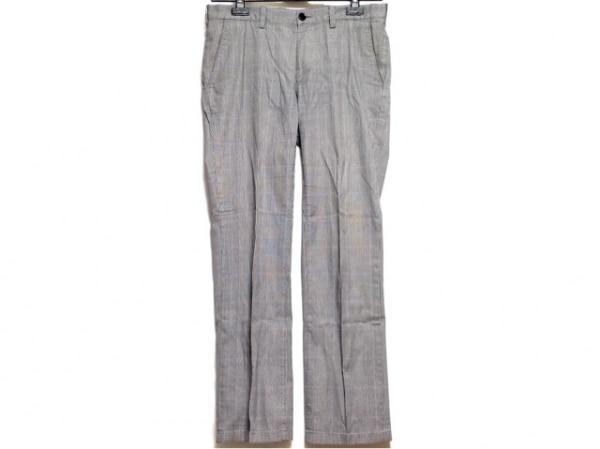 バーバリーブラックレーベル パンツ サイズ79 メンズ 白×黒×パープル